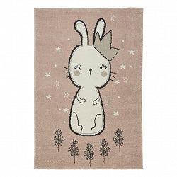 Detský Koberec Bunny 1, 80/150cm, Ružová