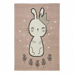 Detský Koberec Bunny 3, 160/220cm, Ružová