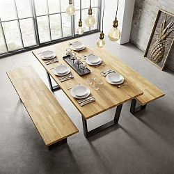 Stôl Z Masívu Kayla 180x90 Cm